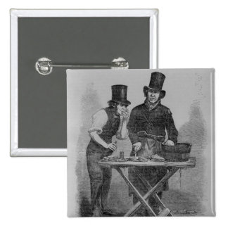 Der Austern-Stall Quadratischer Button 5,1 Cm