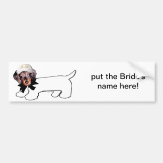 Der autographische Jagdhund der Braut Autoaufkleber