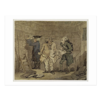 Der Autor und sein Verleger, 1784 (graue Wäsche Postkarte