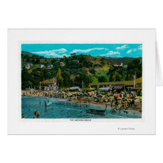 Der Baden-Strand bei Avalon, Catalina-Insel Karte