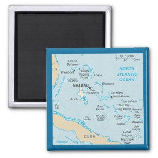 Der Bahamas-Karten-Magnet Quadratischer Magnet