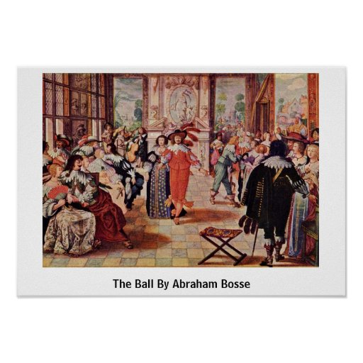 Der Ball durch Abraham Bosse Plakat