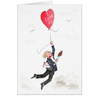Der Ballon des Valentinsgrußes Karte