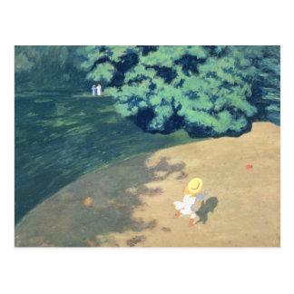 Der Ballon oder die Ecke eines Parks mit einem Postkarte