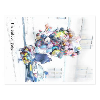 Der Baloon Verkäufer Postkarte