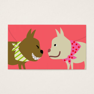 Der Bandana-Hunde des Hundewanderers Visitenkarte