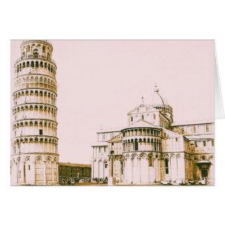 Der Baptistry von Johannes und lehnender Turm von Karte