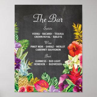 Der Bar Aloha Luau Party-Zeichen-Hochzeits-Empfang Poster