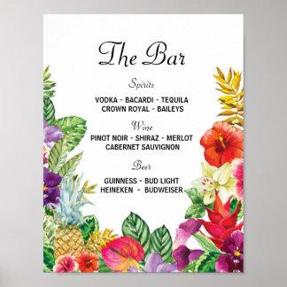 Der Bar Aloha Luau Poster