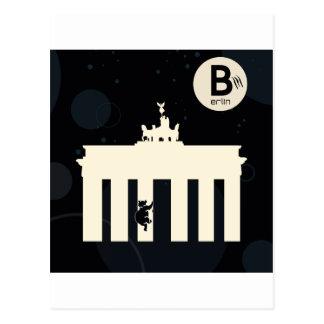 Der Bär auf Berlin - Brandenburger Tor Postkarte