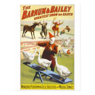 Der Barnum u. Bailey-Zirkus Postkarte
