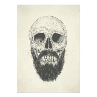 Der Bart ist nicht tot Personalisierte Einladungskarten