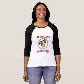 Der Baseball-T-Stück der Benachteiligt-Frauen T-Shirt