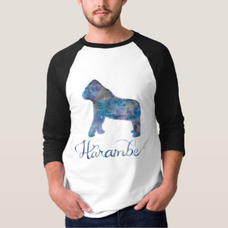 Der Baseball-T-Stück der Harambe Aquarell-Männer T-Shirt