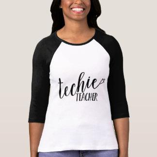 """Der Baseball-T-Stück """"der Techie Lehrer-"""" Frauen T-Shirt"""
