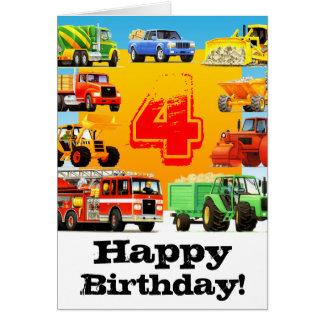 Der Bau-LKW-4. alles Gute zum Geburtstag des Karte