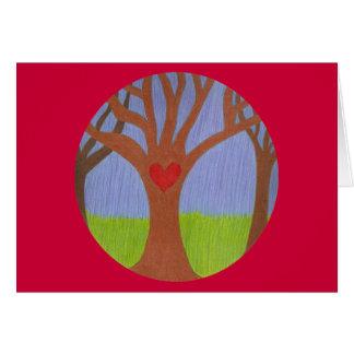Der Baum des glücklichen Valentinsgrußes Grußkarte
