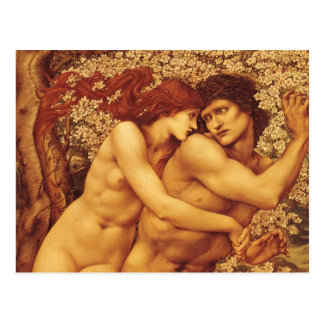 Der Baum des Verzeihens durch Burne Jones Postkarte