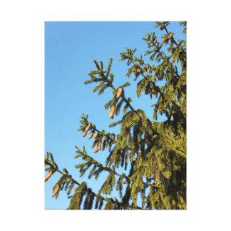Der Baum für Weihnachten Leinwanddruck