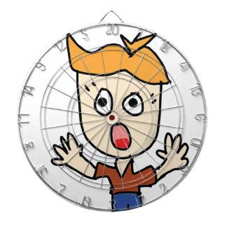 der beängstigende Jungen-Cartoon Dartscheibe