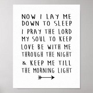 Der Bedtime-Gebet des modernes Poster