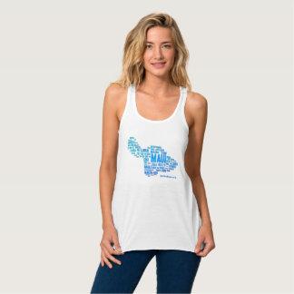 Der Behälter der Maui-Wort-Wolken-Frauen (weiß) Tank Top