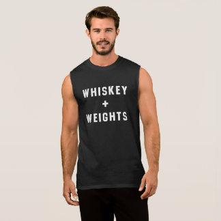 Der Behälter der Whisky-und Gewichts-Männer Ärmelloses Shirt