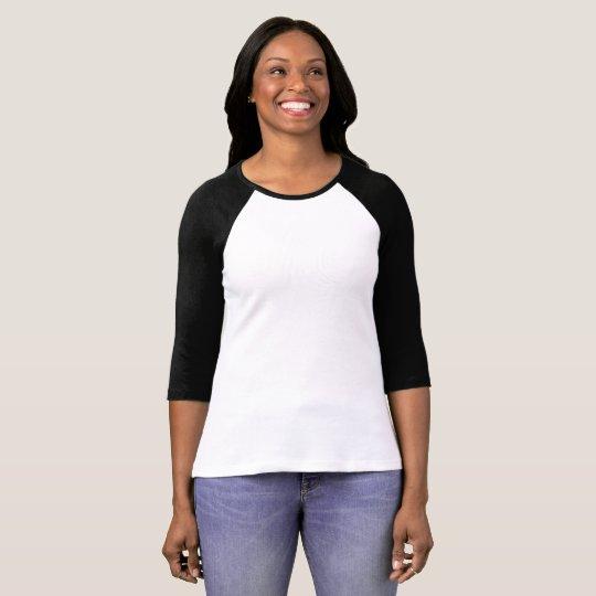 Bella+Canvas Raglan-Shirt mit dreiviertellangen Ärmeln für Frauen