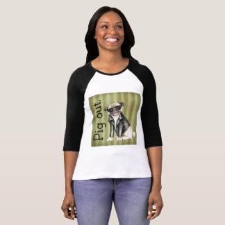 Der Bella der Frauen Leinwand-Schweinheraus T-Shirt