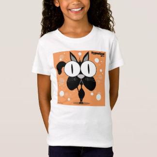 Der Bella der schwarze Katzen-Mädchen angepasster T-Shirt