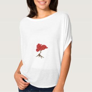 Der Bella Flowy der Frauen handgemalte Bonsais T-Shirt