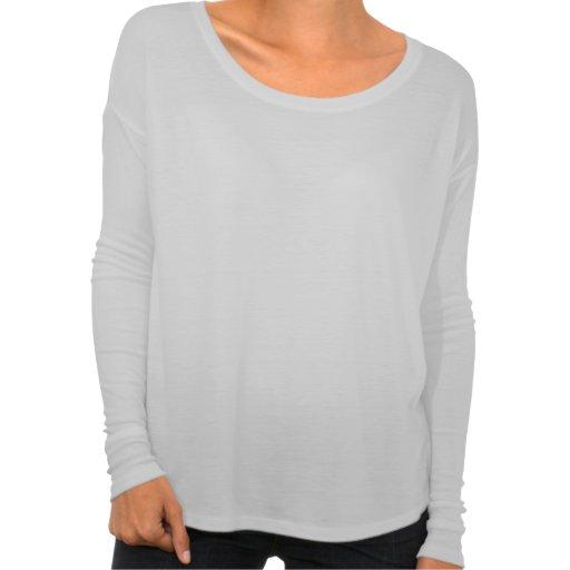 Der Bella Flowy der schönen Frauen langes Hülsen-S T-shirt
