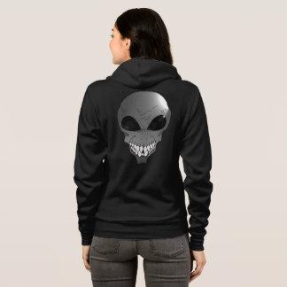 Der Bella grauer alien Frauen+Leinwand Hoodie