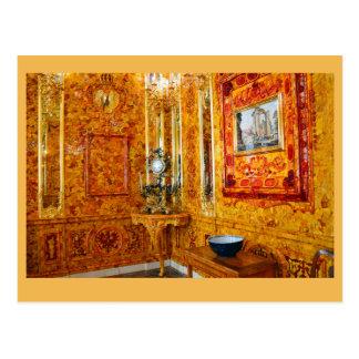 Der bernsteinfarbige Raum, Catherine-Palast, Postkarte