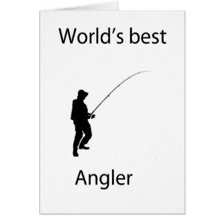 Der beste Angler der Welt Grußkarte