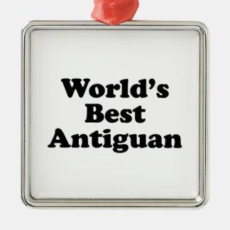 Der beste Antiguan der Welt Silbernes Ornament