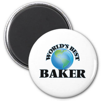Der beste Bäcker der Welt Runder Magnet 5,7 Cm