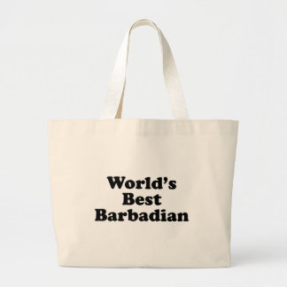 Der beste Barbadian der Welt Jumbo Stoffbeutel