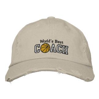 Der beste Basketball-Trainer der Welt Bestickte Baseballkappe