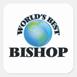 Der beste Bischof der Welt Quadratischer Aufkleber