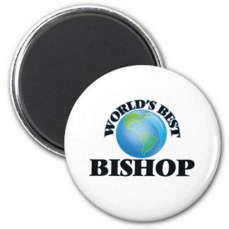 Der beste Bischof der Welt Runder Magnet 5,7 Cm