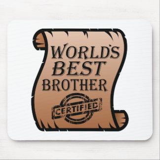 Der beste Bruder-lustiges Zertifikat der Welt Mousepads