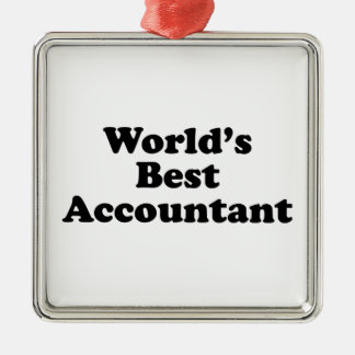 Der beste Buchhalter der Welt Quadratisches Silberfarbenes Ornament
