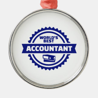 Der beste Buchhalter der Welt Silbernes Ornament