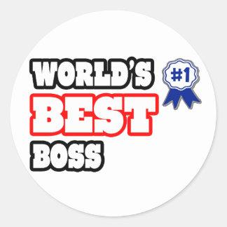 Der beste Chef der Welt Runder Aufkleber