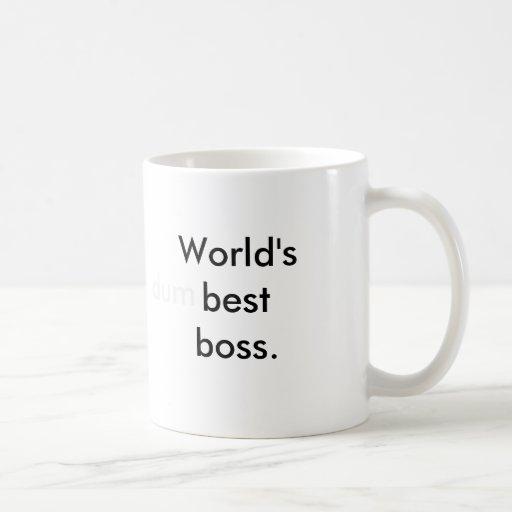 Der beste Chef der Welt (dum) Kaffee Tassen