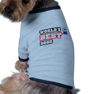 Der beste Chef der Welt Haustier T-shirt