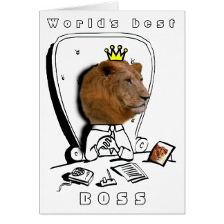 der beste Chef der Welt Grußkarte