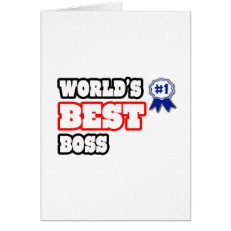 Der beste Chef der Welt Grußkarten