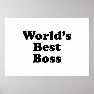 Der beste Chef der Welt Posterdrucke